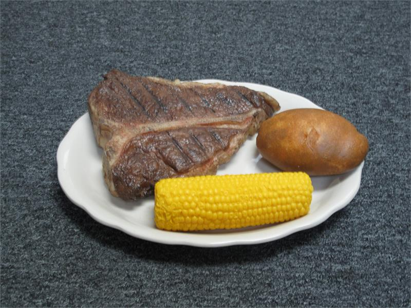 Replica Steak Dinner Plate