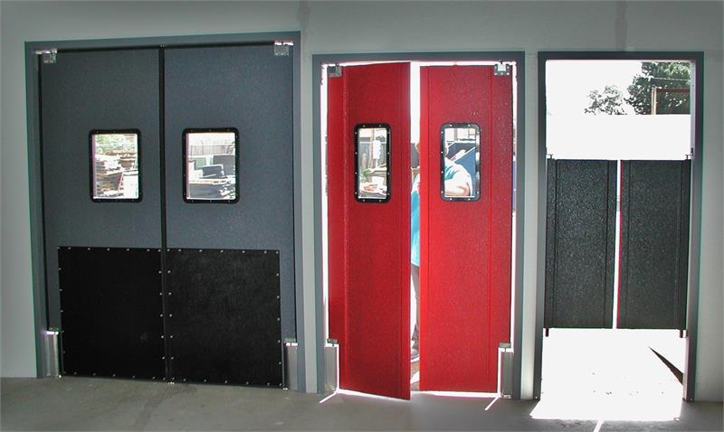 Restaurant kitchen doors stainless steel double restaurant door on sale traffic doors and more - Commercial double swing doors ...